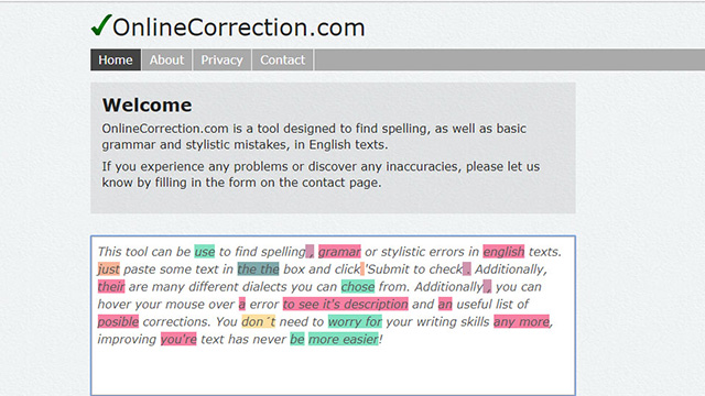 OnlineCorrection features 1