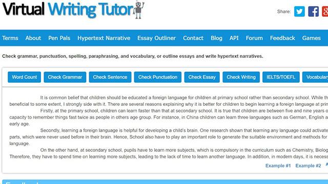 Virtual-Writing-grammar-checker