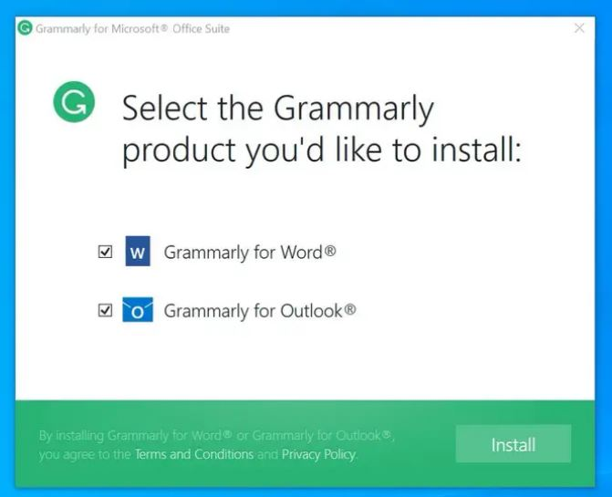 how to use grammarly in outlook