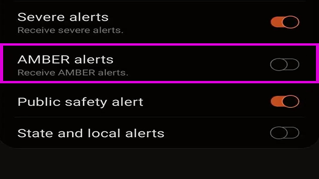 Turn-Off-AMBER-Alerts-android