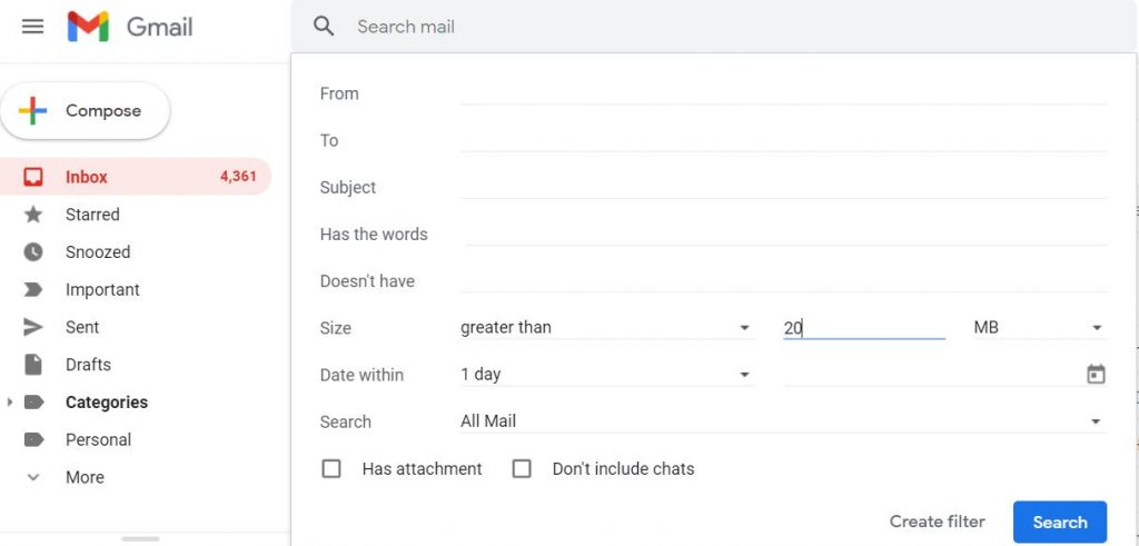 How to Delete Gmail Emails in Bulk by size
