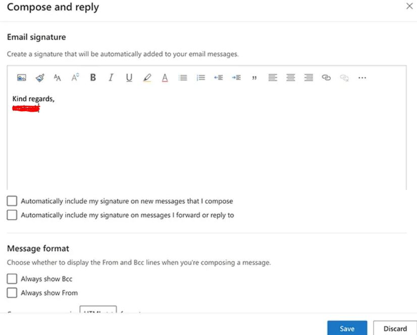How To Add Signature In Outlook Web App
