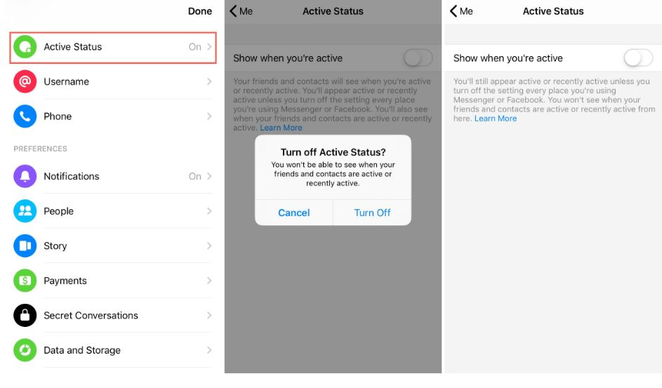 How To Turn Off Active Status On Facebook Messenger