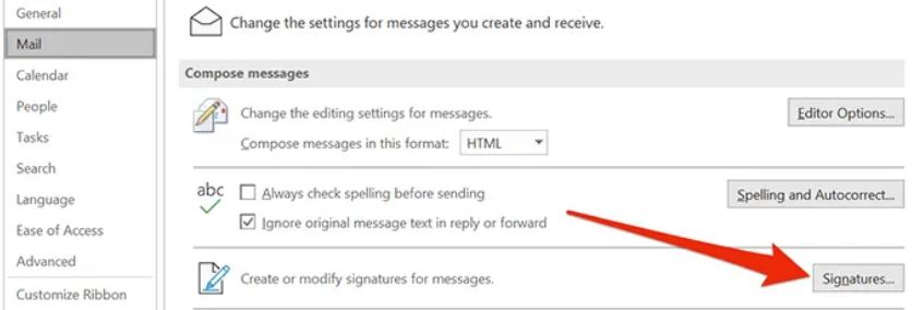 how to add signature in outlook windows 10