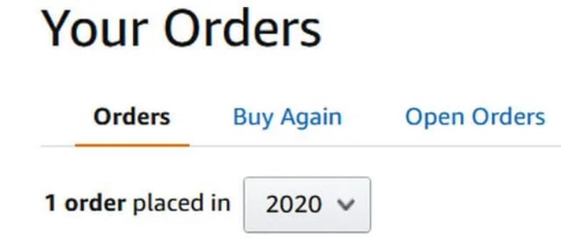 can you hide orders on amazon