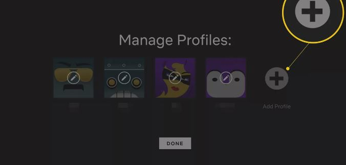 How to add accounts in Netflix