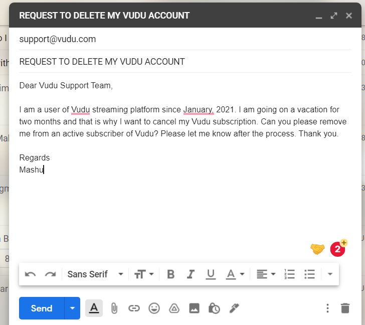How to Delete a Vudu Account by Email